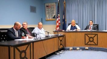 Controller Matt Agresta, Fifth Ward Alderman Jim Martuscello, Fourth Ward Alderman Rodney Wojnar, City Clerk Sue Alibozek, Mayor Michael Villa