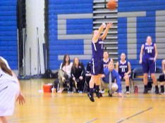 Maria Lomanto scores the last AHS points of the game, and her 100th point