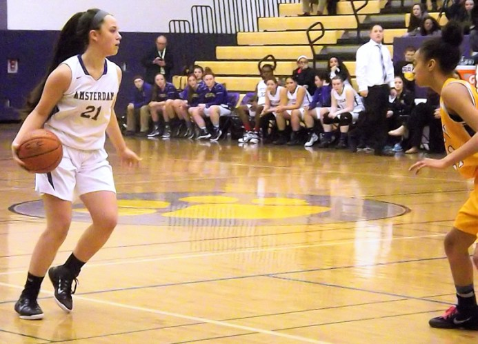 Grace Catena moves with the ball