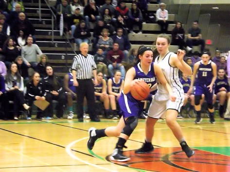 Giuliana Pritchard heads for the rim