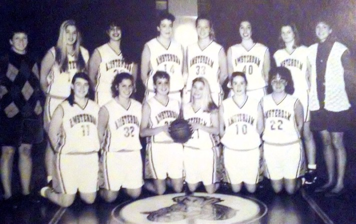 The 1993-1994 Girls Varsity Basketball Team. Photo from the 1994 AHS yearbook provided by Jessica Dean.