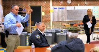 Lieutenant Tom Nethaway, Chief Greg Culick, liaison and organizer Georgia O'Connor