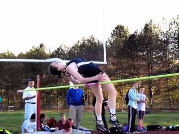 SGF four-event winner Sabreena Quintos McKinney in the high jump