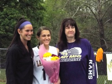 Malina Rivera with her mom and Coach Byerwalters