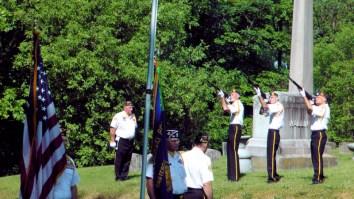 Color Guard 3 Gun Salute