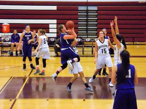 Maria Lomanto goes up for a shot