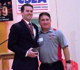 Abram Williams with Mohawks GM Brian Spagnola
