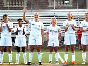 Haley Madej is introduced before the game