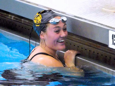 Bella Porter after her finish in the 200 medley