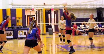 Lily Mitchell sets the play