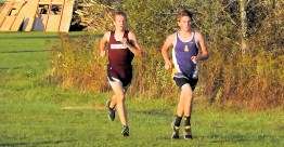 Trevor Dzikowicz racing with Gloversville's Skyler Reed