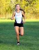 Olivia Lazarou heads for the finish