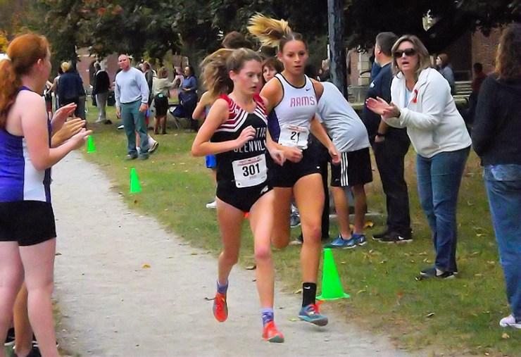 Lauren Santiago passes Scotia-Glenville's Olivia Wheeler