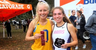 mily Atamanchuk (left), Olivia Lazarou (right) at the Section 2 championships