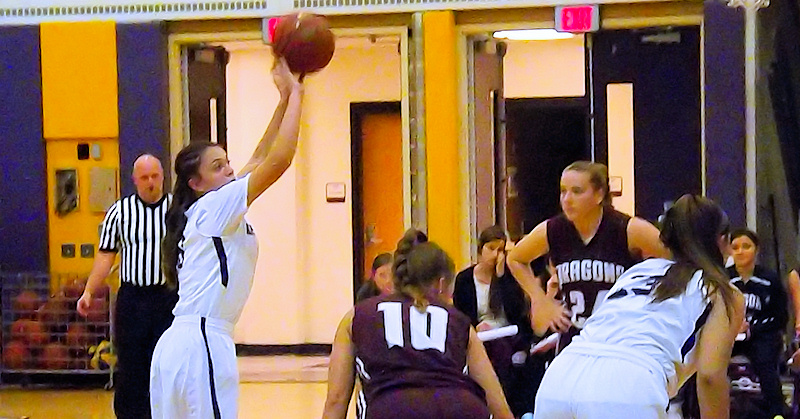 Jackie Stanavich at the free throw line