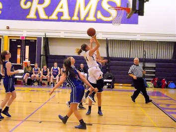 Lucia Liverio drives to the basket