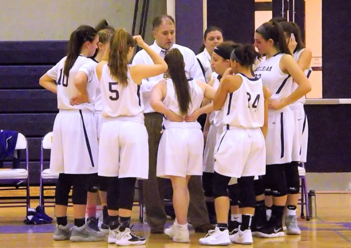 Team huddle during time out