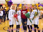 Seniors with team manager Haley Madej