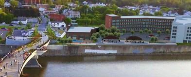 Artist rendering of the waterfront boardwalk