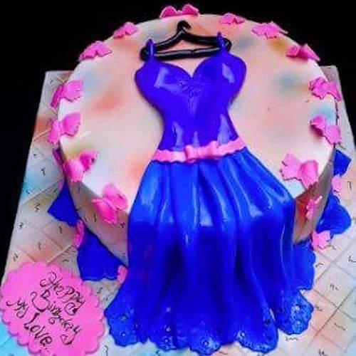Min 3kg Birthday Dress Birthday Cake For Girls