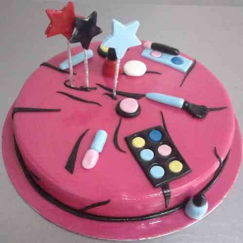 Makeup Set Birthday Cake For Girls
