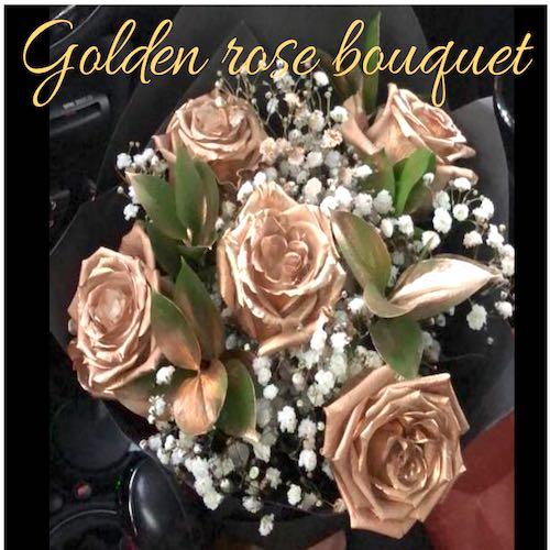 Dubai Media City Flower delivery Golden Rose Bouquet
