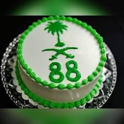 Saudi National Day cake in Dubai