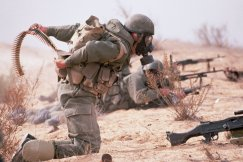 IDF troops in chemical warfare training