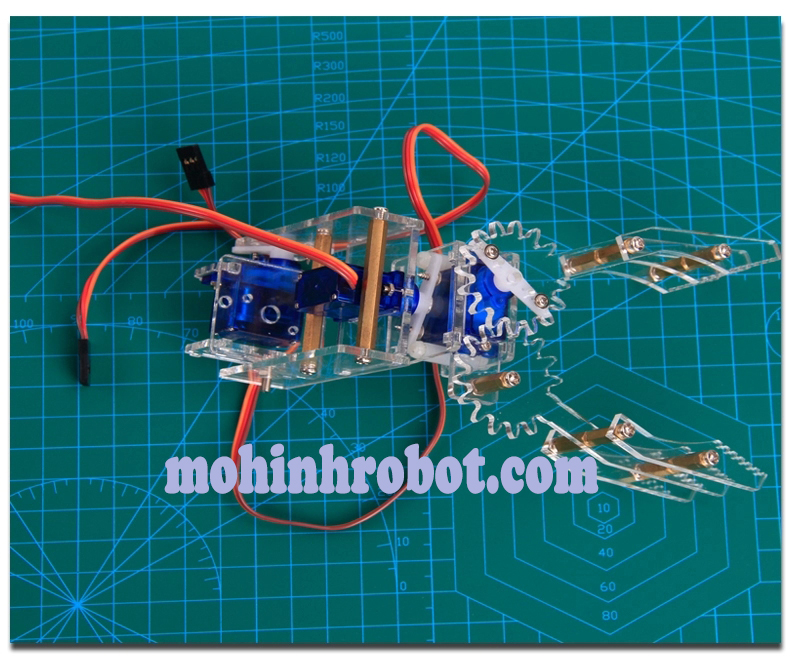 Cánh tay robot ba chiều mica trong động cơ xoay học tập