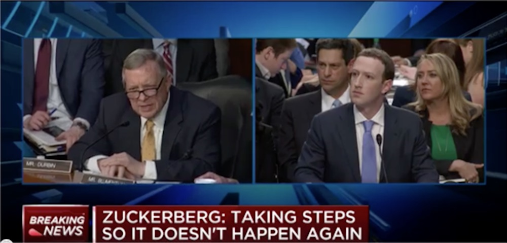 Sen Durbin Interviews Mark Zuckerberg