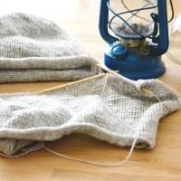 DIY Schal und Beanie stricken | Grau meliert ist einfach schick