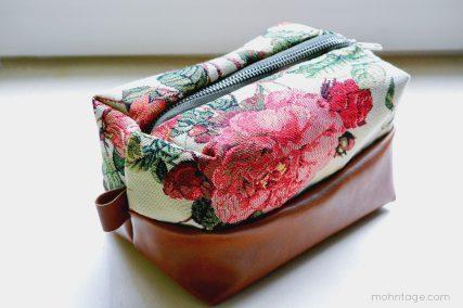 Kosmetiktasche Schnittmuster - Box zipper pouch pattern 4