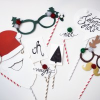 DIY Photo Props + Printables für die Weihnachtsparty | Create yourself a merry little Christmas