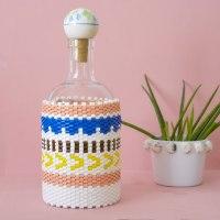 DIY Peyote Stitch Flaschenbezug