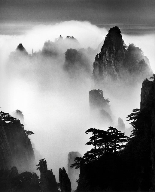 "Wang Wusheng, ""Mt. Huangshan,"" 2007. Gelatin silver print 39 1/2 x 31 3/8 inches. Courtesy of Barry Friedman Ltd."