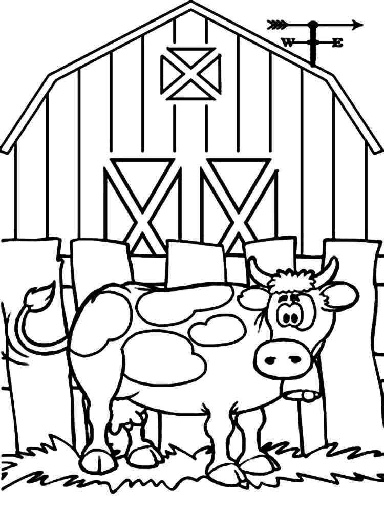 Раскраски Корова для детей. Скачать и распечатать