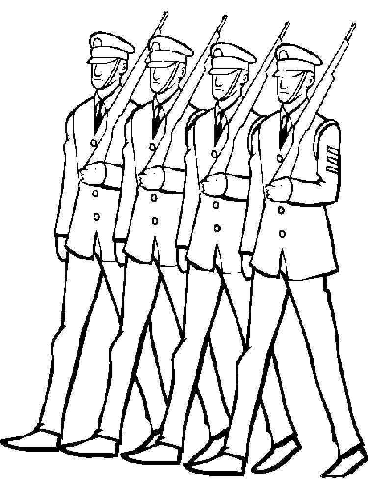 Раскраски Солдаты. Скачать и распечатать раскраски Солдаты.