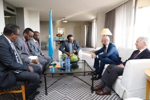 Somali's President meets with European Council president