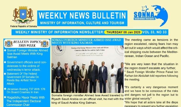 Weekly News Bulletin Vol 33