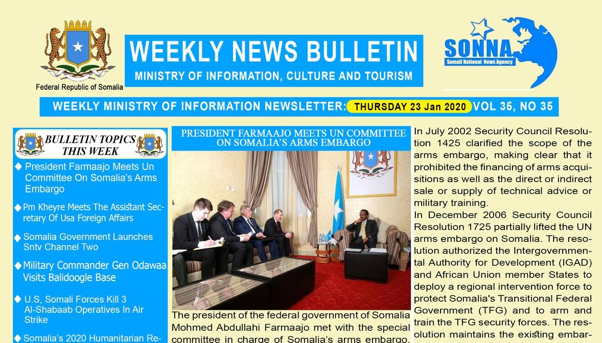 Weekly News Bulletin Vol 35