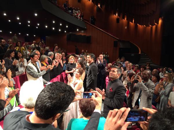 Receiving standing ovation