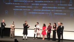 Neeraj receiving Un Certain regard jury prize