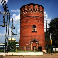 This 100-year old water tank, somebody told us, is soon going to be demolished. Or turned into a restaurant.