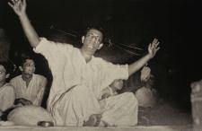 "Soumitra, Bansi Chandragupta and Ray at the Music Recording session of ""Teen Kanya"", New Theatres No. 1 Studio, Kolkata 1961. Ray made his debut as a composer from this film."
