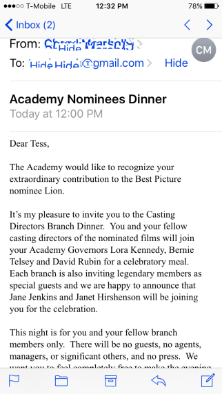 Academy Awards Nominee Dinner