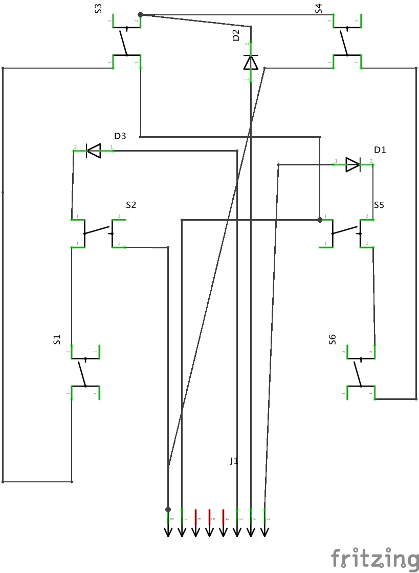 hight resolution of schema of circuit with diodes and switches
