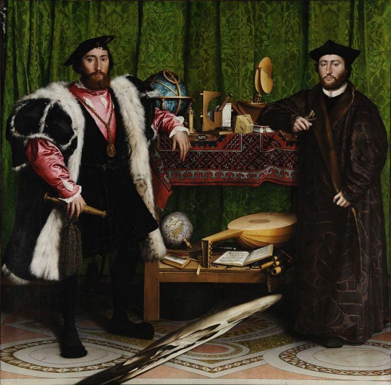 """Tìm hiểu nghệ thuật Phục Hưng: Triết lý nhân sinh trong bức """"Những ngài đại sứ"""""""