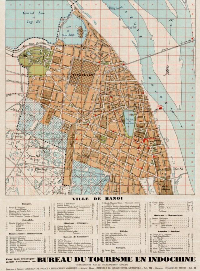 Bản đồ Hà Nội năm 1925 (ảnh: Public Domain)