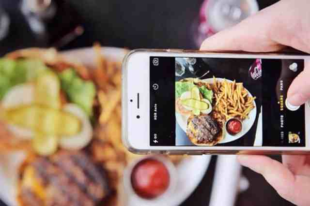 Image result for take food photo by phone