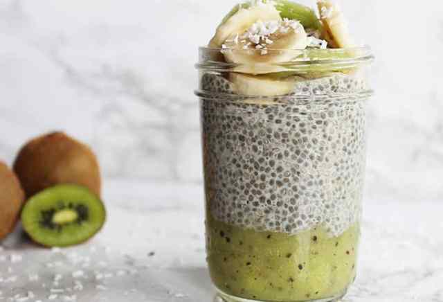 Image result for kiwi chia pudding recipe